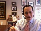 English: David Frum. Image source is a screen shot from a BloggingHeads.tv video podcast.