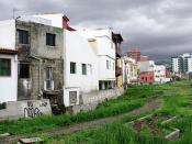 Poor Concrete Slum Houses