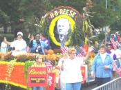 English: Honoring H.B. Reese (Inventor of Reese's Peanut Butter Cups) during the Community of Hershey's Centennial Celebration in 2003.