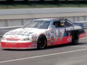 NASCAR driver Darrell Waltrip at Pocono in 1997.