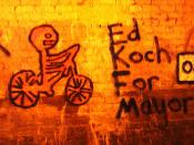 Ed Koch for Mayor.This strange graffiti has just appeared in Colinton rail tunnel