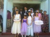 Ethnic Hakka people in a wedding in East Timor, 2006.