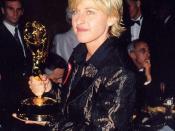 Ellen DeGeneres at the 1997 Emmy Awards (cropped)
