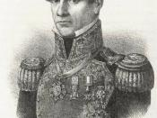 English: This is a lithograph of Mexican President Antonio Lopez de Santa Anna. The image is now located at the Benson Latin American Collection at the University of Texas at Austin. This image was reprinted in Craig H. Roell's 1994 book Remember Goliad!,