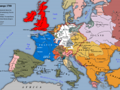 English: Map of Europe 1700. Based an image in G. M. Trevelyan's England Under Queen Anne Volume I.