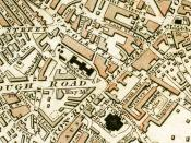 Locations of King's Bench Prison and Horsemonger Lane Gaol c.1833