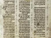 The Aleppo Codex is a medieval manuscript of the Hebrew Bible (Tanakh), associated with Rabbi Aaron Ben Asher. The Masoretic scholars wrote it in the early 10th century, probably in Tiberias, Israel. It is in book form and contains the vowel points and gr
