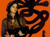 Patty Hearst takes part in the April 1974 Hiberna bank raid with other SLA members.