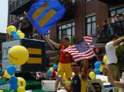 English: Chicago Pride Parade with Flags of the Human Rights Campaign