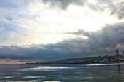 English: Baku boulvard and Caspian sea