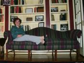 Lara on couch