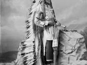 Chief Little-Wound Oglala, Sioux 1877 photographed in Washington D.C.