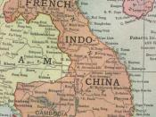 A map of French Indochina prior to the First World War. Unfortunately there is part of western Laos which is cut off in this scan.
