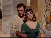 Cropped screenshot of Richard Burton and Elizabeth Taylor from the trailer for the film Cleopatra.