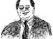 Rush Limbaugh as drawn by Rex Lameray in July 2004.