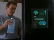 Internet refrigerator as seen in the science fiction film The 6th Day