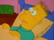 Bart in his first televised appearance in