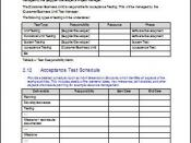 Schedule Acceptance Test Plan during Software Development Testing Phase