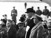 Francisco Franco and Dwight D. Eisenhower in Madrid in 1959.