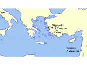 English: Map of Epistle to Colossians Polski: Mapa Listu do Kolosan