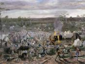 Depiction of the Eureka Stockade by Beryl Ireland (1891)