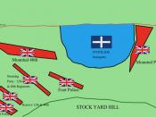 Map of the stockade and opposing forces