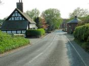English: Platt Bridge With Platt Bridge Cottage on the left and the toll house on the right.