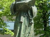 Bronze statue of Erasmus in Rotterdam. It was created by Hendrick de Keyser in 1622, replacing a stone statue of 1557.