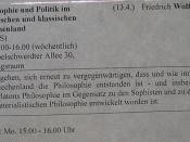 »Philosophie und Politik im archaischen und klassischen Griechenland« {13. April 2011 - Seminar @ FU}
