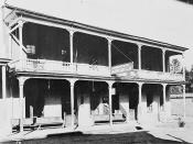 Exterior of the Angels Hotel, Angels Camp, California, USA, where Mark Twain heard the story that he wrote as