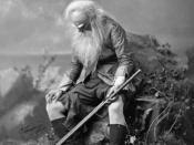 Jefferson as the old Rip Van Winkle, 1896