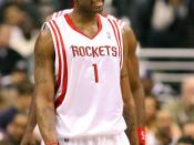 Tracy McGrady playing against the Washington Wizards of the National Basketball Association/