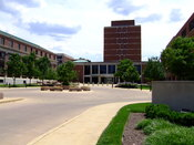 English: The main entrance to Battelle Memorial Institute in Columbus. Self made photo.
