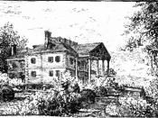 English: Drawing of mansion occupied by Eliza Jumel, originally built by Roger Morris in 1758.