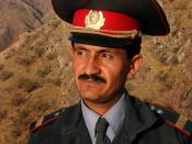 A police officer of Tajikistan in 2005.
