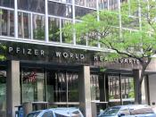English: New York City - Pfizer World Headquarters Deutsch: New York City - Pfizer World Headquarter
