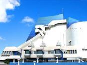 Vista parcial del Centro Cultural Miguel Angel Asturias, popularmente conocido como Teatro Nacional