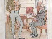 English: Persusasion (Jane Austen Novel). For Sir Elliot, baronnet, the hints of Mrs Sheppard, his agent, was very unwelcome. Français : Persuasion, dernier roman de Jane Austen. Sir Elliot n'apprécie pas les conseils d'économie de Mr Sheppard, son notair