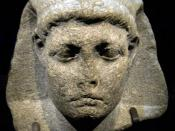 English: Caesarion, son of Cleopatra and Caesar. From the Cleopatra exhibit,