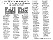 The tragical ballad: or, the lady who fell in love with her serving-man.
