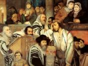 Jews praying in the Synagogue on Yom Kippur. (1878 painting by Maurycy Gottlieb)