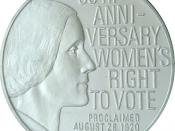 Silver Franklin Mint Womens Right to Vote 50th Anniversary 1970