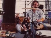 Denver, Co concert, Bill Kreutzmann playing the talking drum.