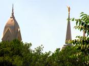 English: Spires of the Brigham City Tabernacle and Temple