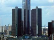 English: Renaissance Center, GM World Headquarters, Detroit, Michigan.