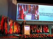 Deputy Foreign Minister Spyros Kouvelis at the 4th UN Conference on Least Developed Countries