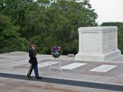 English: Guard at the Tomb of the Unknowns in Arlington National Cemetery.