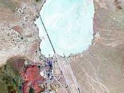 Landsat geocover 2000 pseudocolour imagery of Area 51 at Groom Lake, Nevada, USA