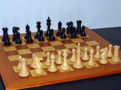 English: Starting position of a chess game. House of Staunton Collector set.