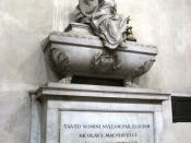 English: Tomb of Niccolò Machiavelli in the Basilica of Santa Croce in Florence.
